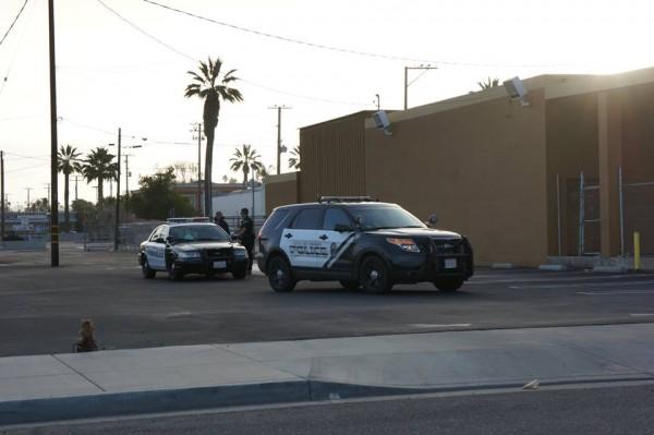 Hemet PD officers on scene of today's early morning arrest.